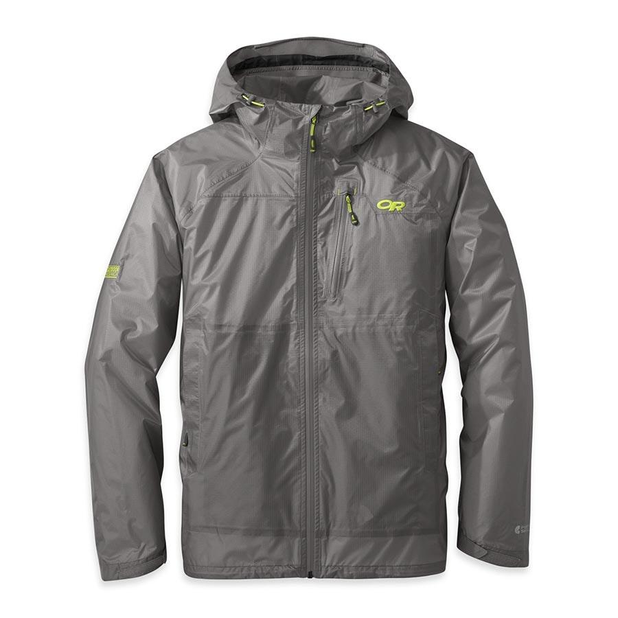 Men's Helium HD Jacket: pewter/lemongrass