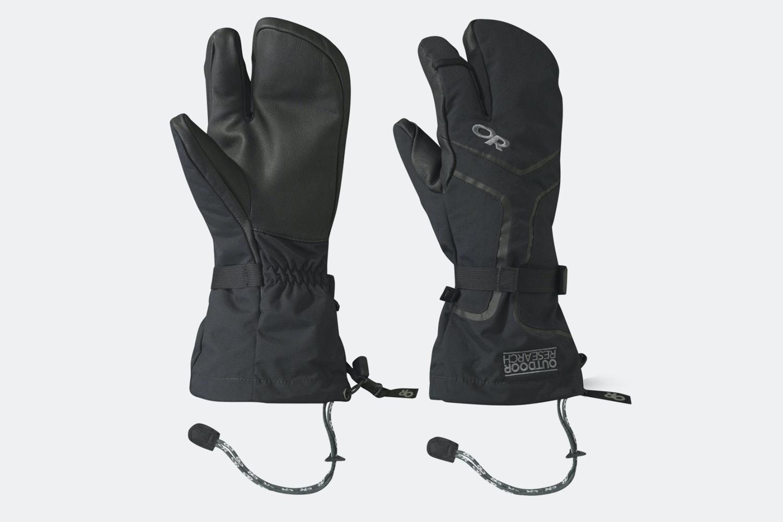 Men's – Highcamp 3-Finger Gloves – Black