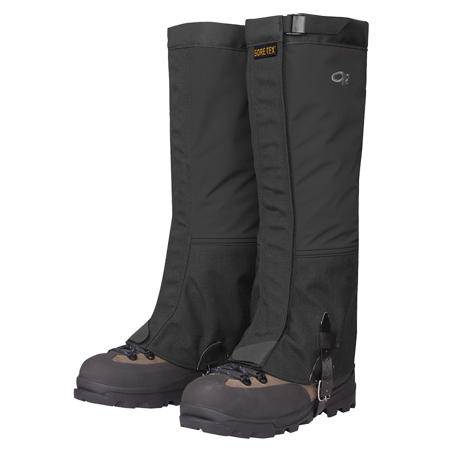 Men's Crocodile Gaiters, Black (+ $11)