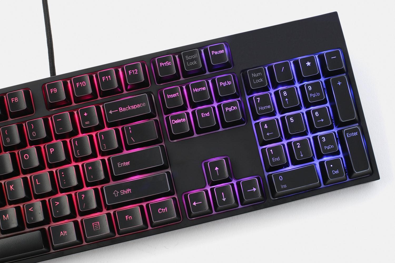 Outlined ABS Backlit 104-Keycap Set
