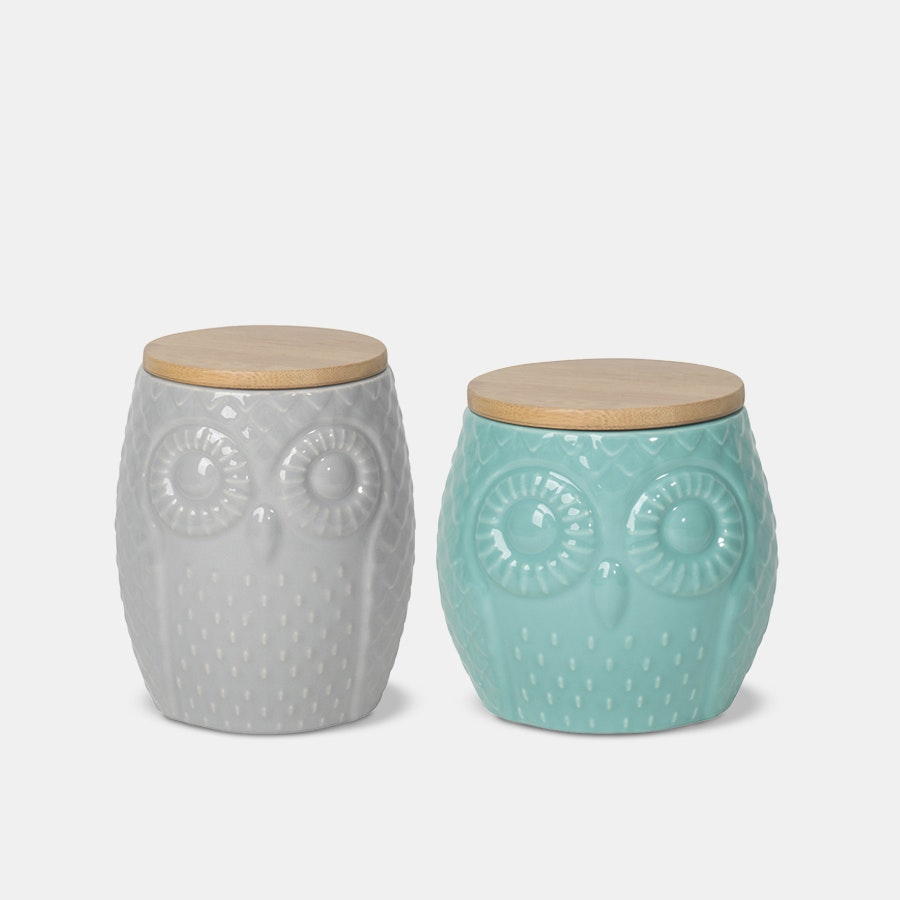 Owl Canister Set of 2