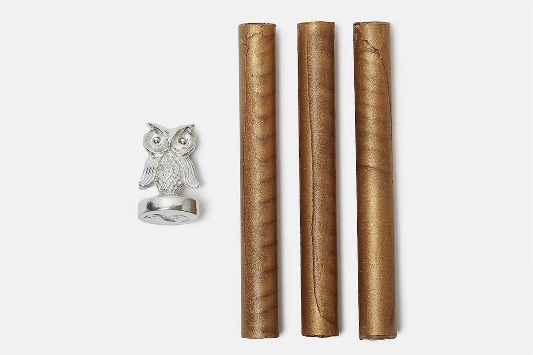 Owl Monogram Wax Seal Set