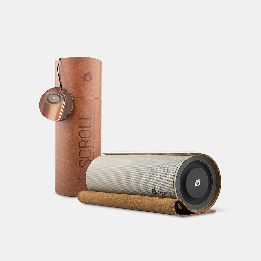 Owlee Scroll Premium Leather Bluetooth Speaker