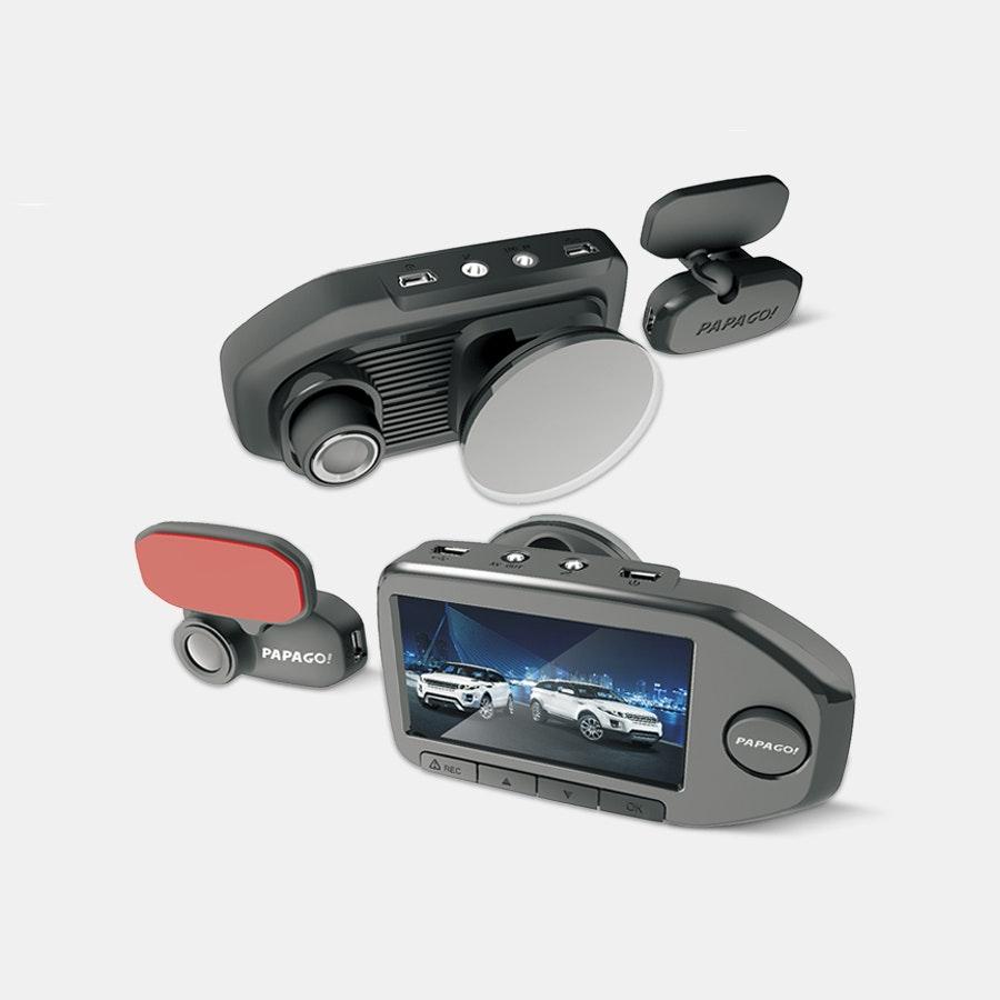 PapaGo GoSafe 760 2-Channel Dash Cam w/32GB SD Card