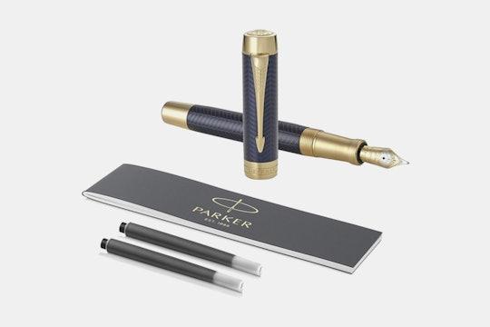 Parker Duofold Prestige Chevron Fountain Pen