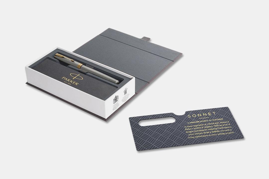 Parker Sonnet Prestige Sterling Silver Fountain Pen
