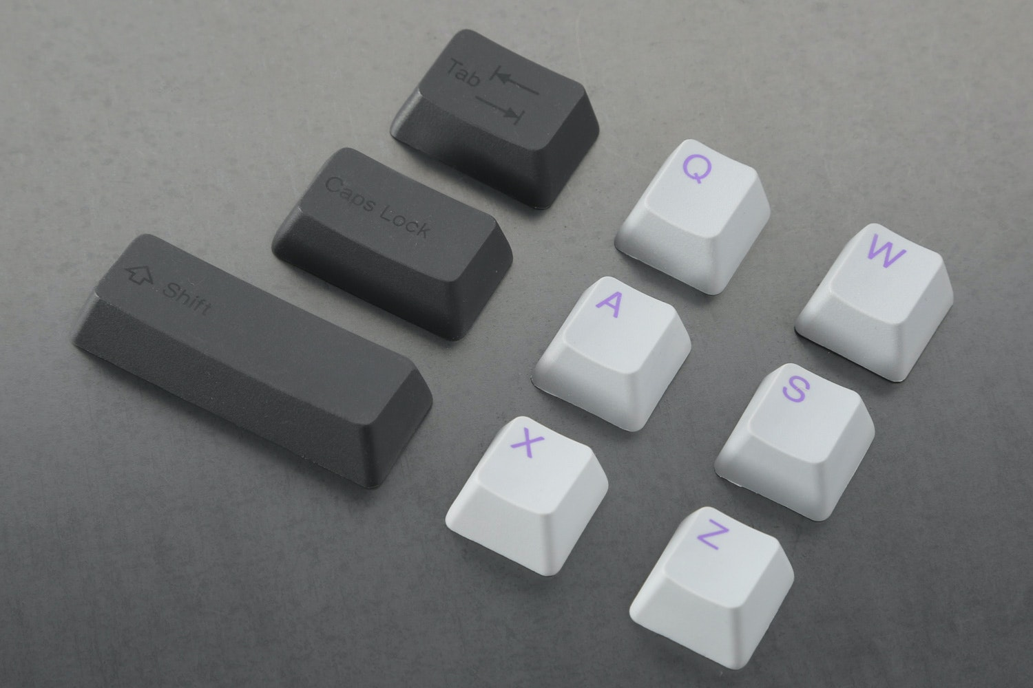 Cement/Lavender alpha keys with Onyx/Onyx modifier keys
