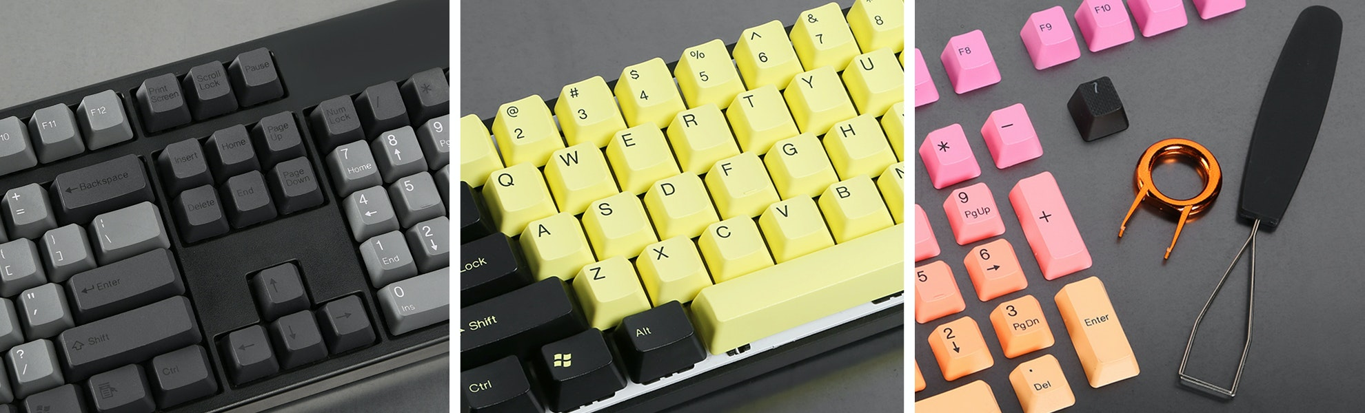 PBT Double-Shot Keycap Set - 5 Color Options