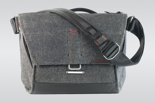 Charcoal with Red Stitching