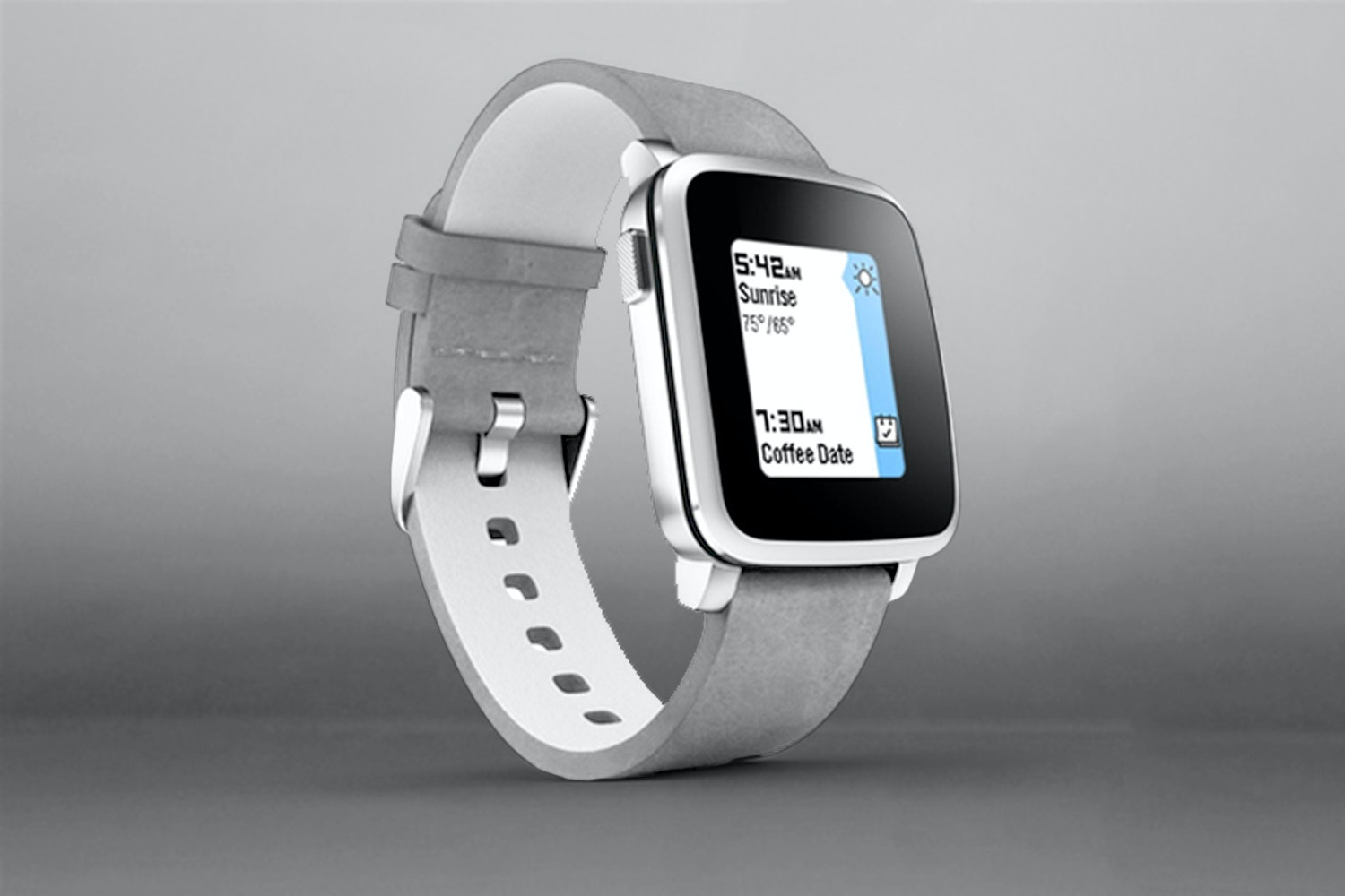 Pebble Time Steel Smartwatches for Apple/Android
