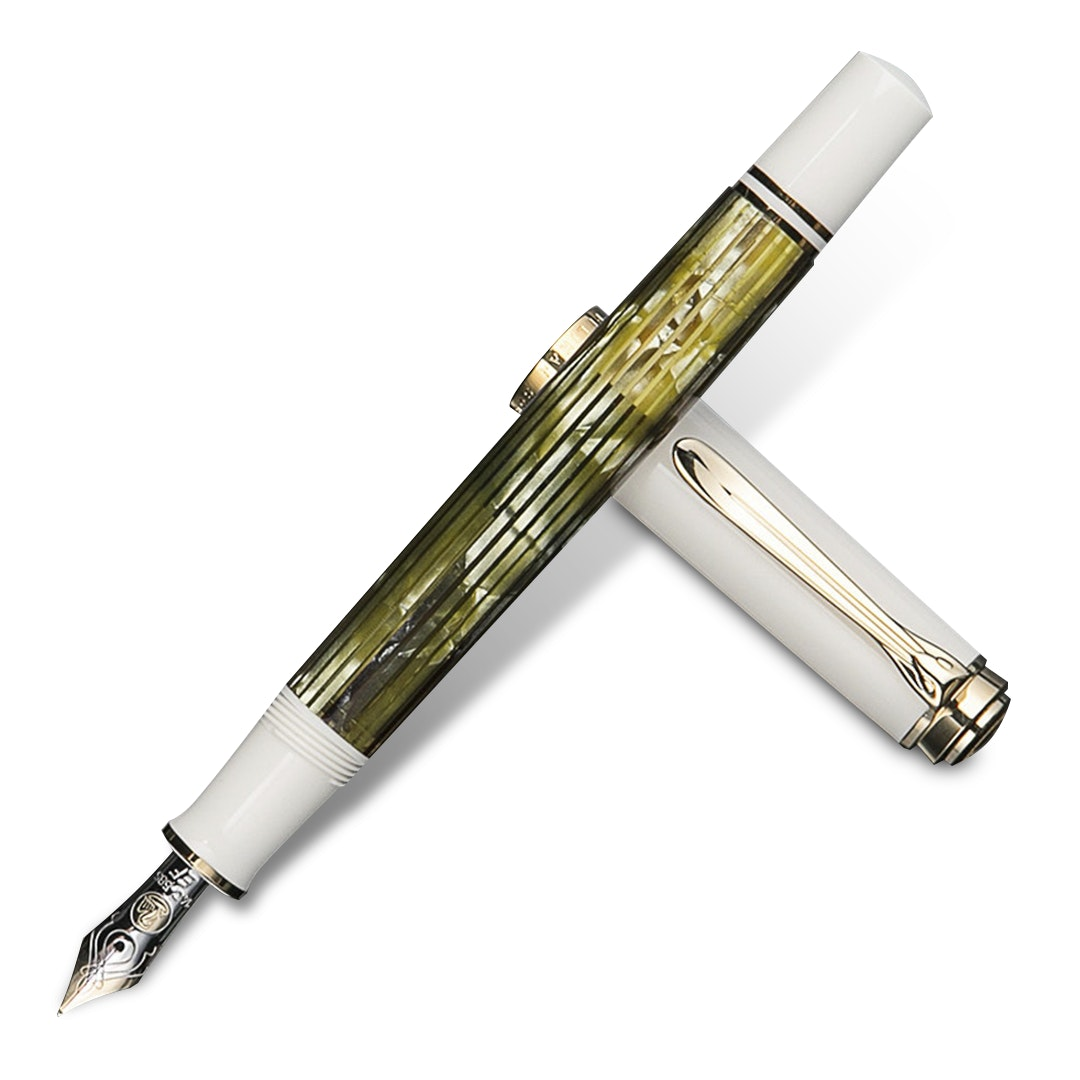 Pelikan Souveran M400 White Tortoise Fountain Pen