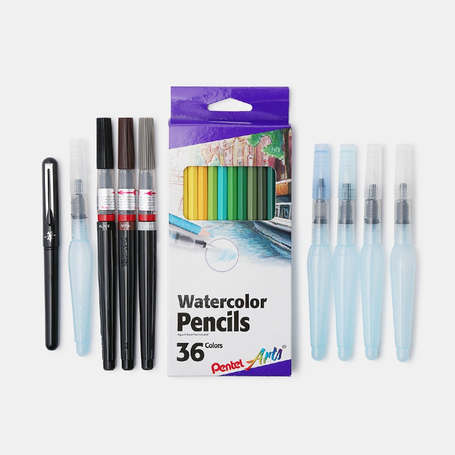 Pentel Aquash Watercolor Bundle