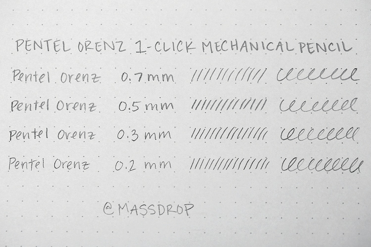 Pentel Orenz 1-Click Mechanical Pencil (4-Pack)