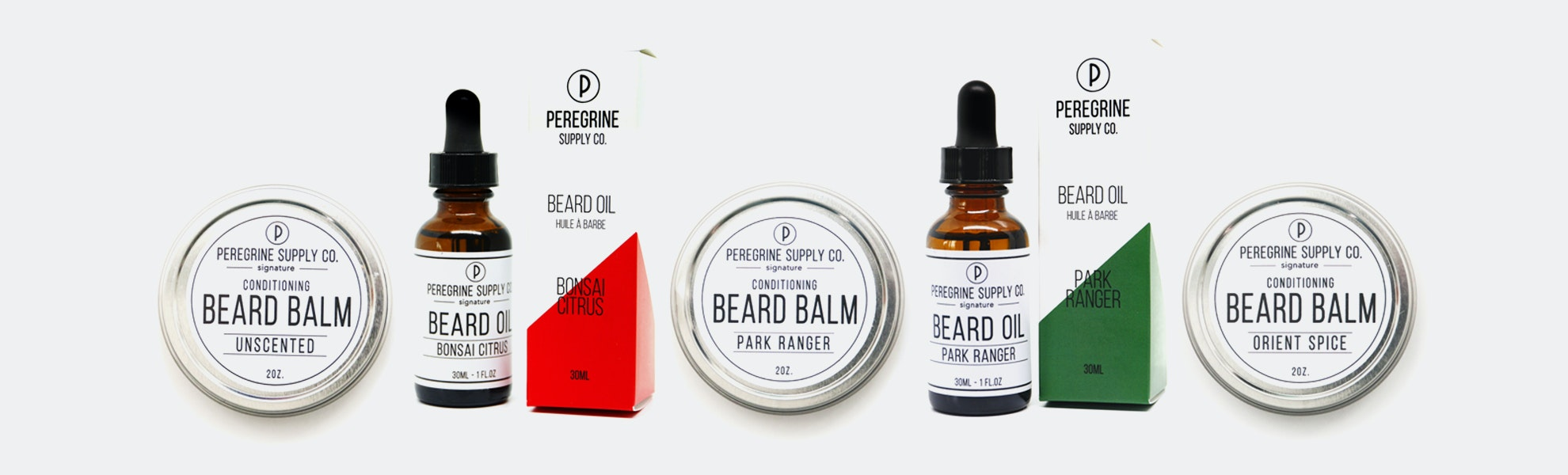 Peregrine Supply Co. Solid Beard Balm & Oil