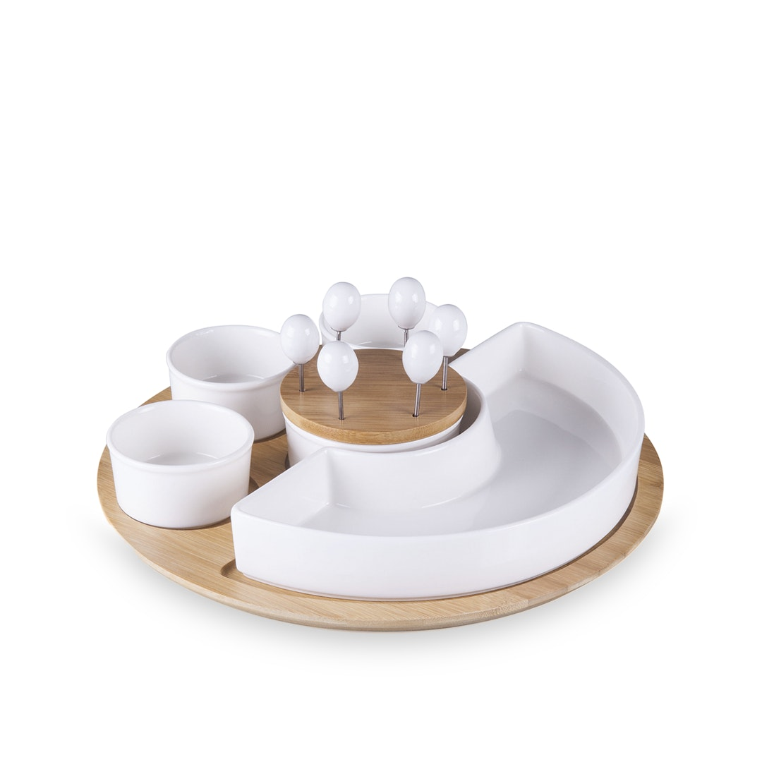 Picnic Time Symphony Bamboo Serving Tray