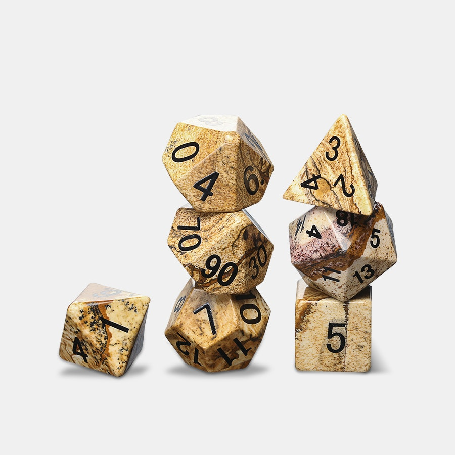 Picture Jasper Polyhedral Dice Set Price Amp Reviews