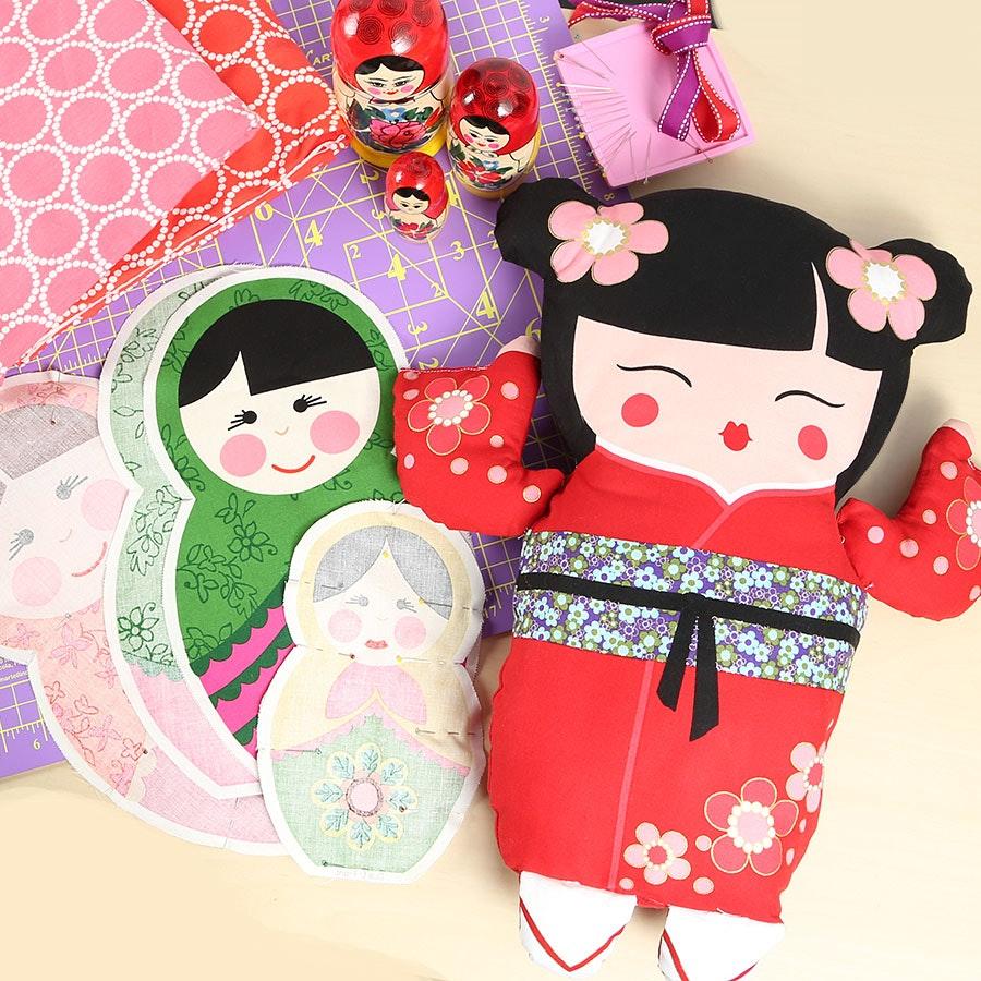 Little Katerina & Sakura Pillow Panels