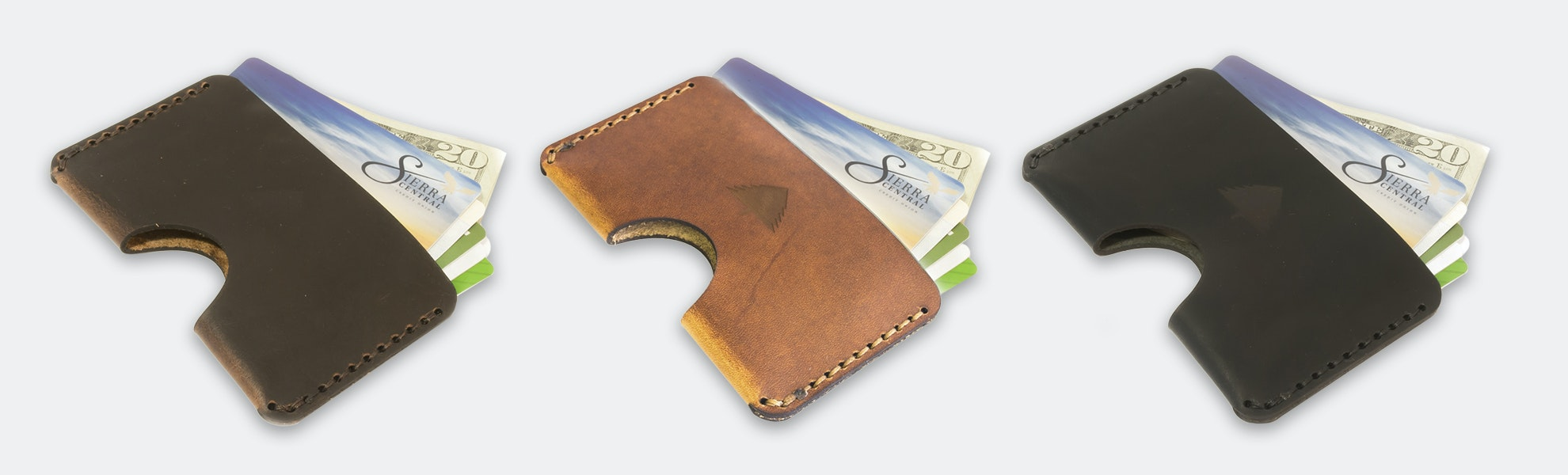 Pine Top Horizontal & Vertical Card Wallets