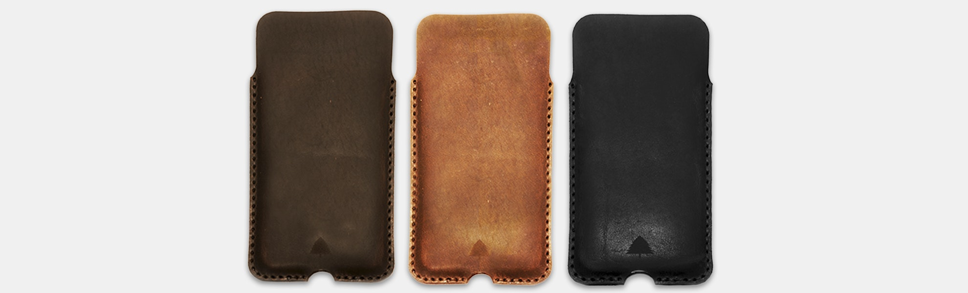 Pine Top Leather iPhone Cases