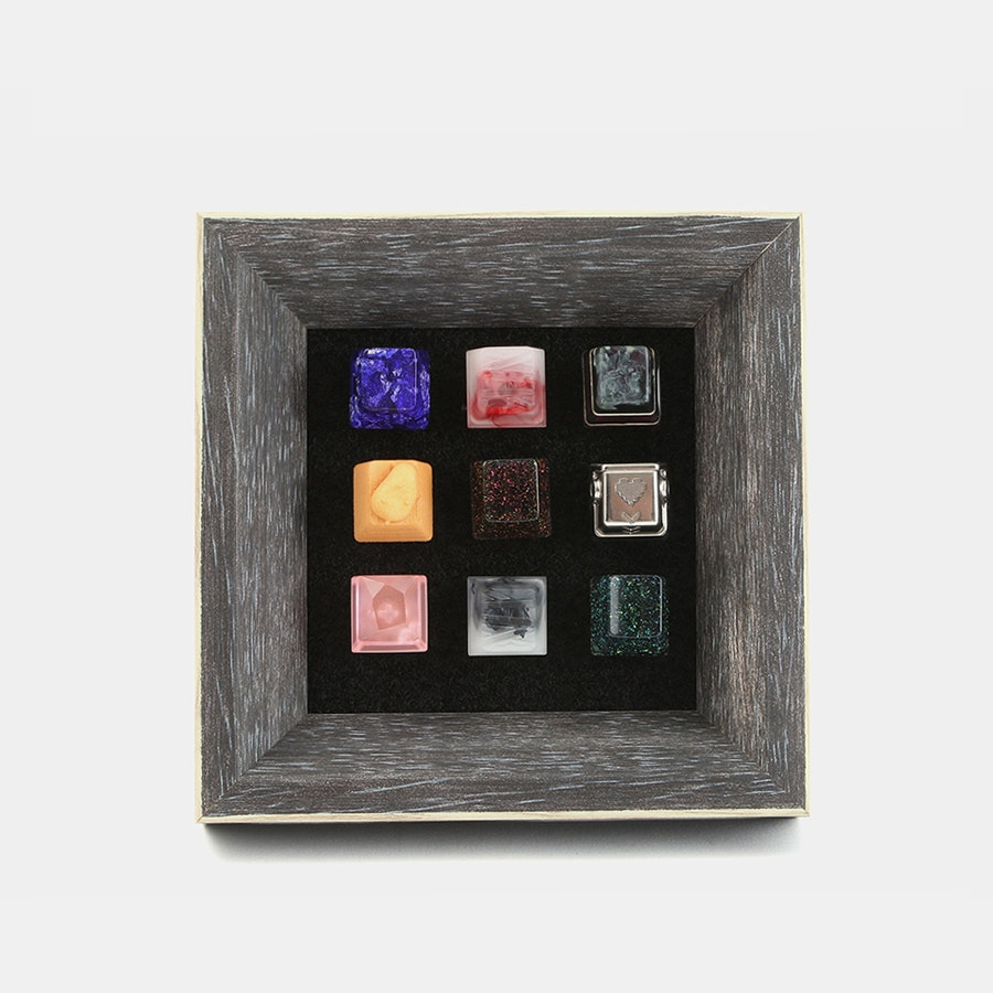 Pine Wood Mechanical Keyboard Keycap Frame