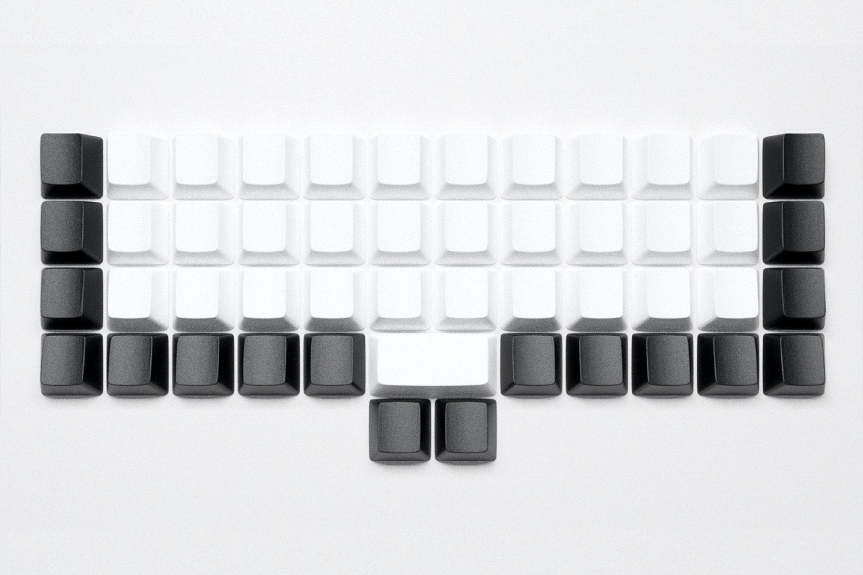 White Alphas, Black Modifiers, OEM profile, ABS