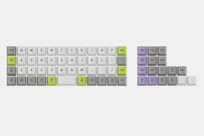 Acute PBT Dye-Sublimated Keycap Set (MX-Compatible)