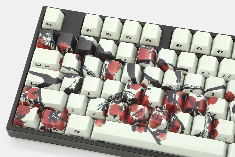 Plum Blossom PBT Dye-Subbed Keycap Set