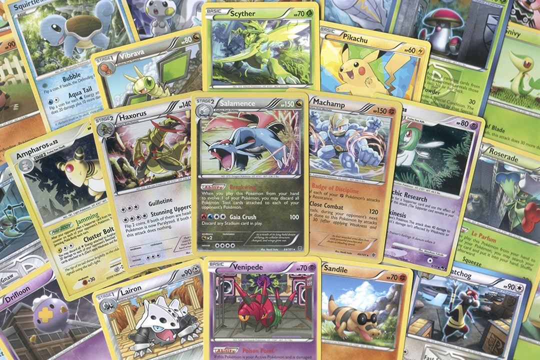 Pokémon Random Cards Lot (50 Cards)