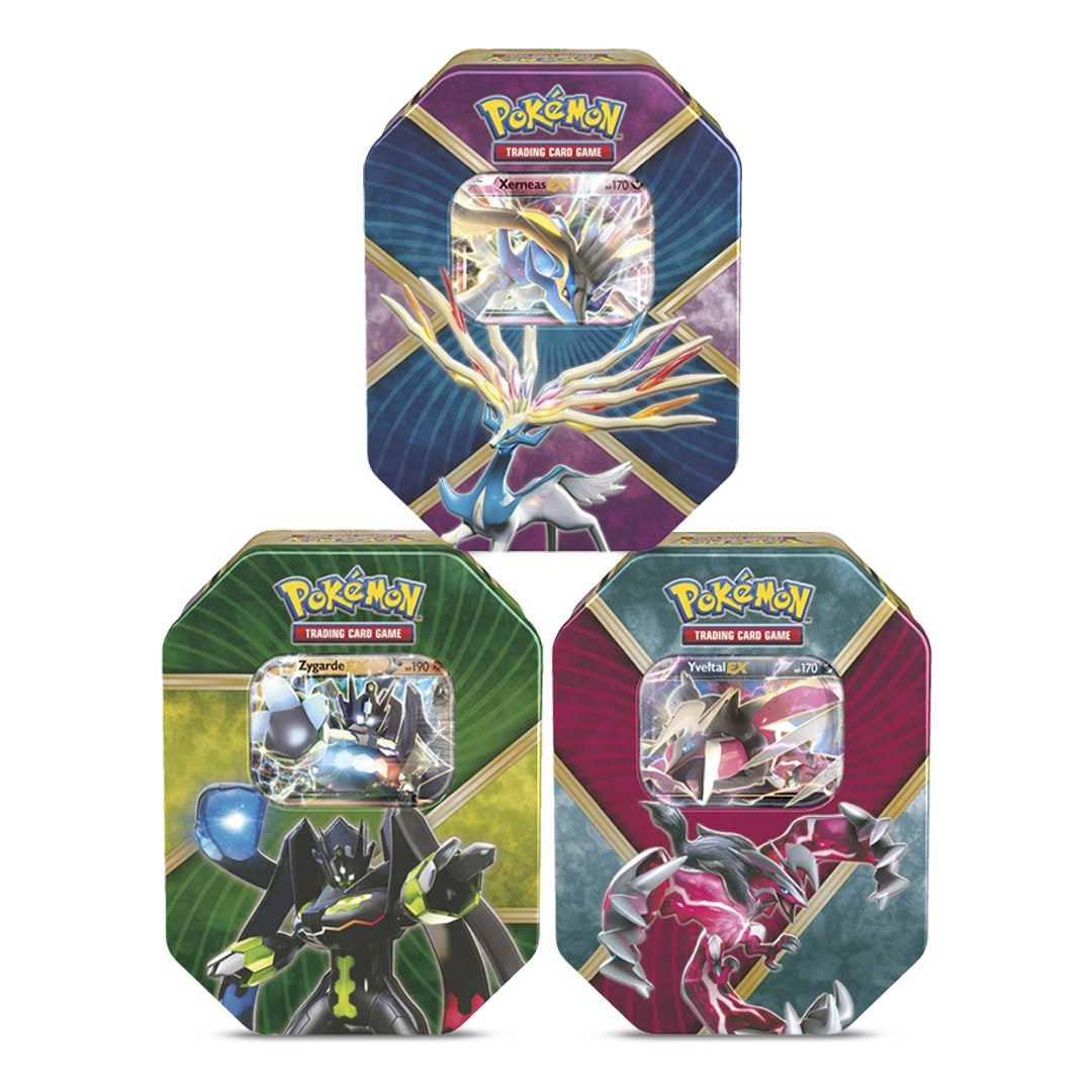 Pokémon Shiny Kalos EX Tin Bundle