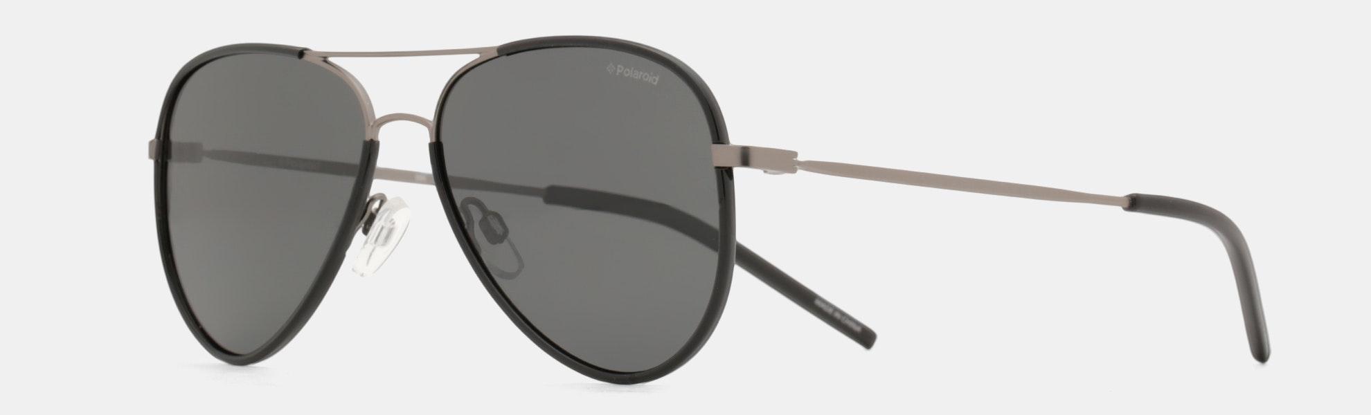 Polaroid Lightweight Polarized Aviator Sunglasses