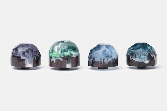 Polygonal Mini Iceland Wood & Resin Artisan Keycap