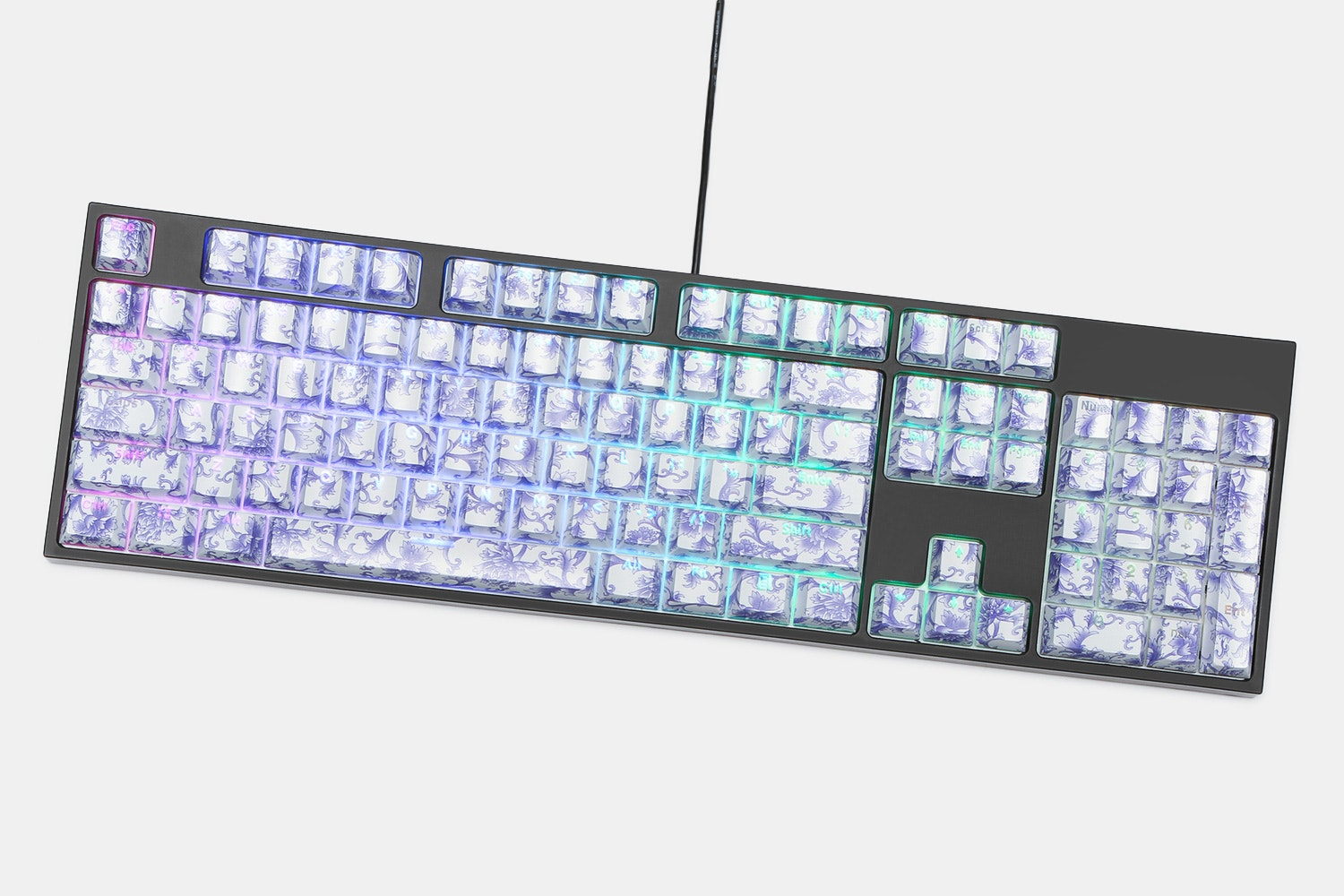 Porcelain ABS Shine-Through 104-Keycap Set
