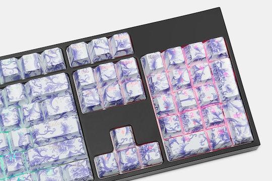 Porcelain ABS Shine-Through 104-Keycap Set