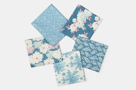 Cottage Fabric Collection - Fat Quarter - Blue/Teal