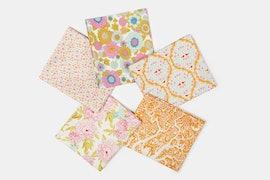 Lemon Tree Fabric Collection - Fat Quarter - White/Yellow