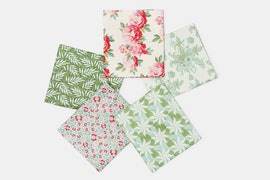 Cottage Fabric Collection - Fat Quarter - Sage/Pink