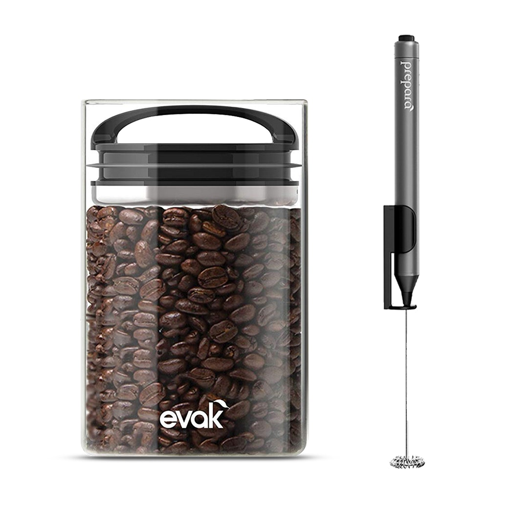 Prepara Milk Frother & EVAK Coffee Bean Saver
