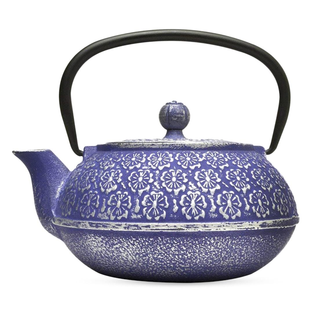 Primula Blue Floral Cast Iron Teapot