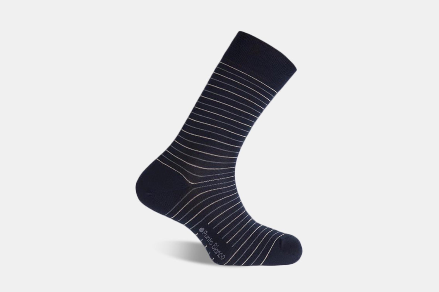 Short Mercerized Stripes - 100 - Navy Blue