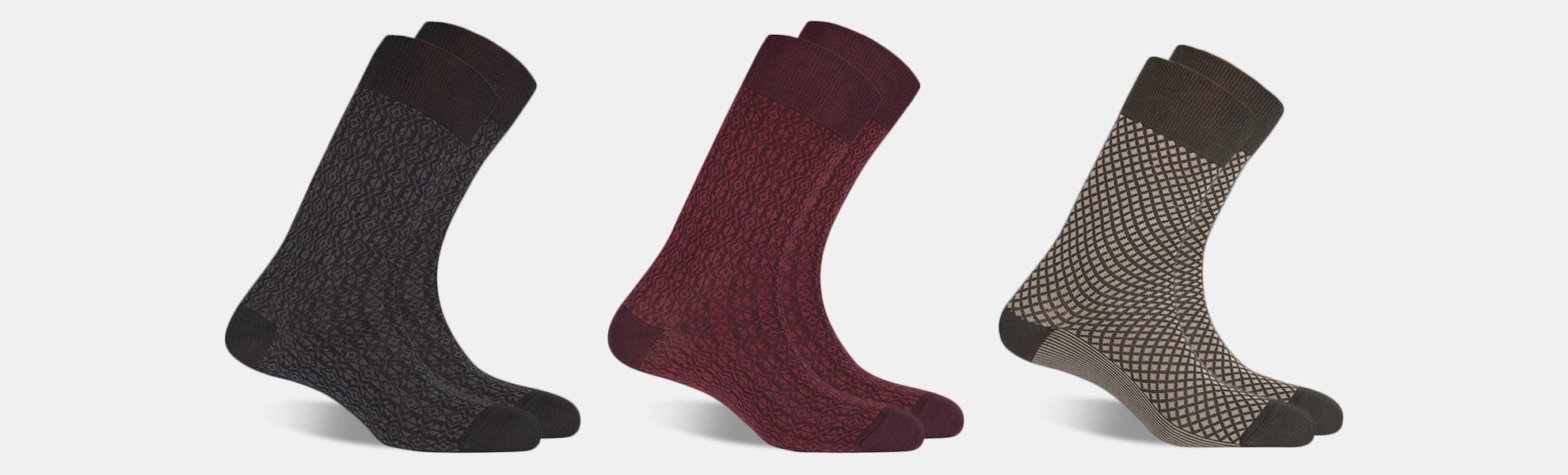 Punto Blanco Cotton Blend Socks (3-Pack)