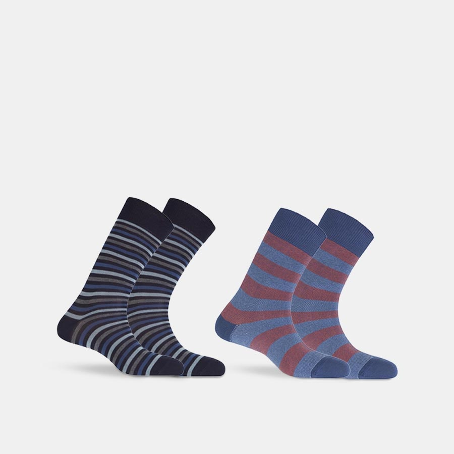 Punto Blanco Cotton Stripe Socks (2-Pack)