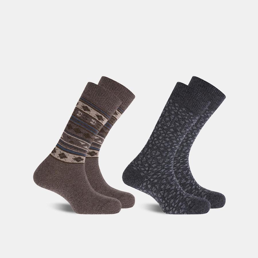 Punto Blanco Lambswool Pattern Socks (2-Pack)