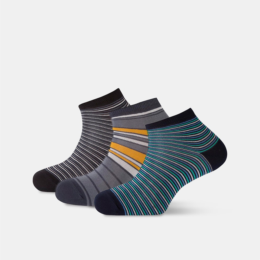 Punto Blanco Striped Ankle Socks (3-Pack)