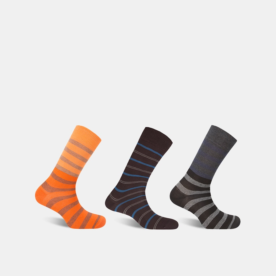 Punto Blanco Striped Cotton Socks (3-Pack)