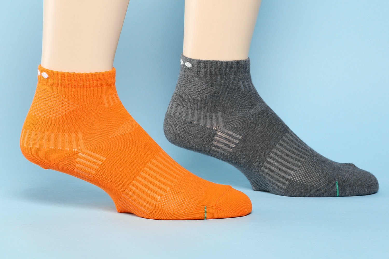 Basic Knit, Charcoal/Orange (583)