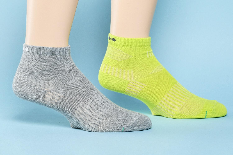Basic Knit, Gray/Lime (582)