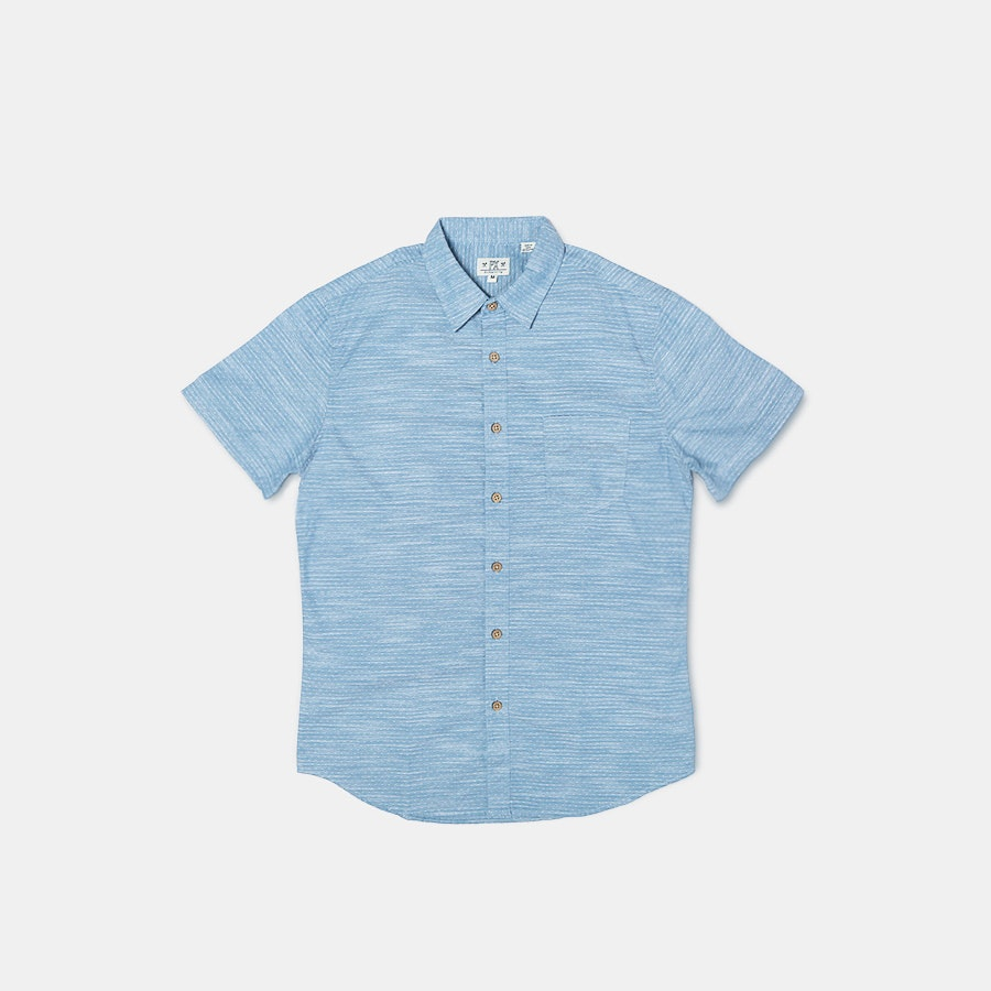 PX Clothing Micro-Print Woven Shirts