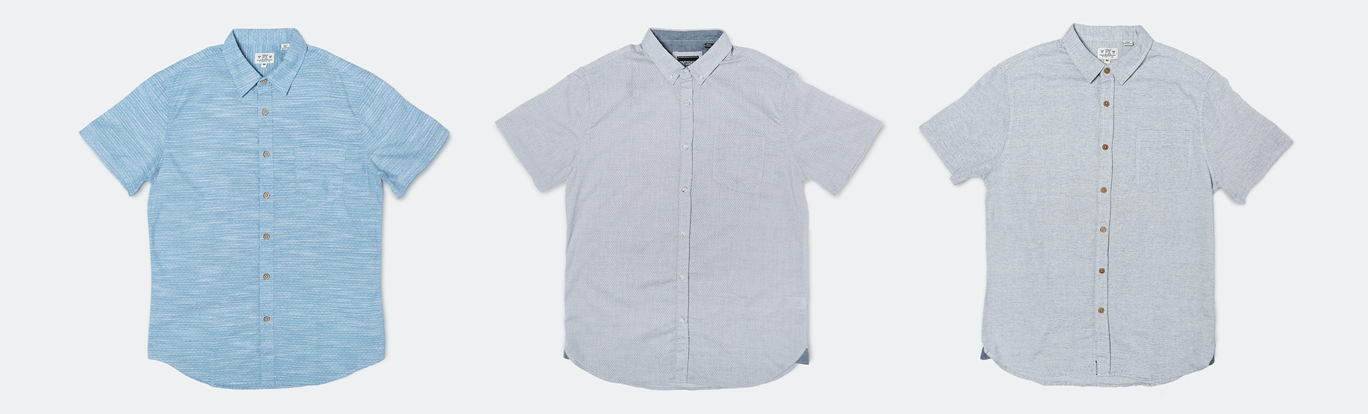 PX Clothing Micro-Print Woven Shirts