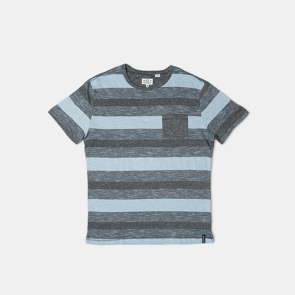 PX Clothing Oliver Tee Bold Stripes, Patch Pocket -- PX Clothing brings the laid-back, sun-soaked spirit of Southern California into apparel that's versatile, practical, and always in style. A great piece for warm-weather weekends and vacations, the Oliver tee is available here in two color palettes. Each shirt is made of 90% cotton and 10% polyester with end-on-end, mock-twisted yarn. The bold, color-blocking stripes are intersected by a solid-colored patch pocket. Tailored in all the right places, the tees have a true-to-size fit that's not too slim.