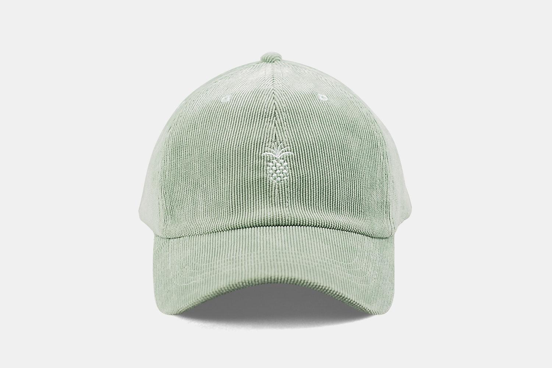 Pineapple Corduroy Cap - Fog Green